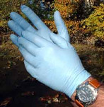Disposable/Single Use Gloves Material: Nitrile Grade: Blue, Lg, 100/pak