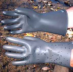 Electro Shock Low Voltage Gloves. Size 10