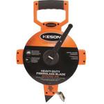 Keson® Metric Open Reel Fiberglass Tape, Graduated One Side Meter, cm, 2 mm, 50m