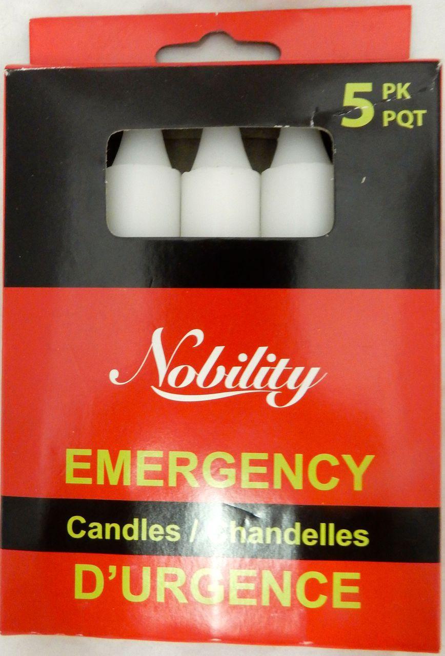 EMERGENCY CANDLES 5PK - 5