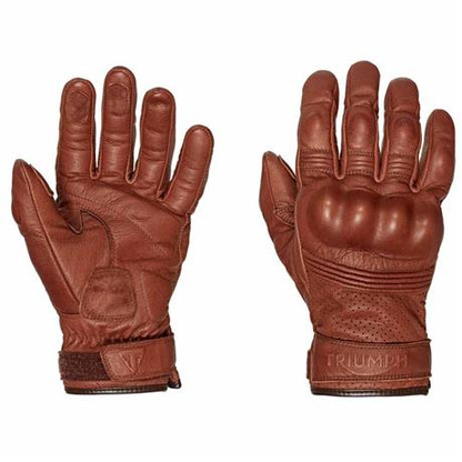 triumph restore tan leather motorcycle riding gloves mgvs16503