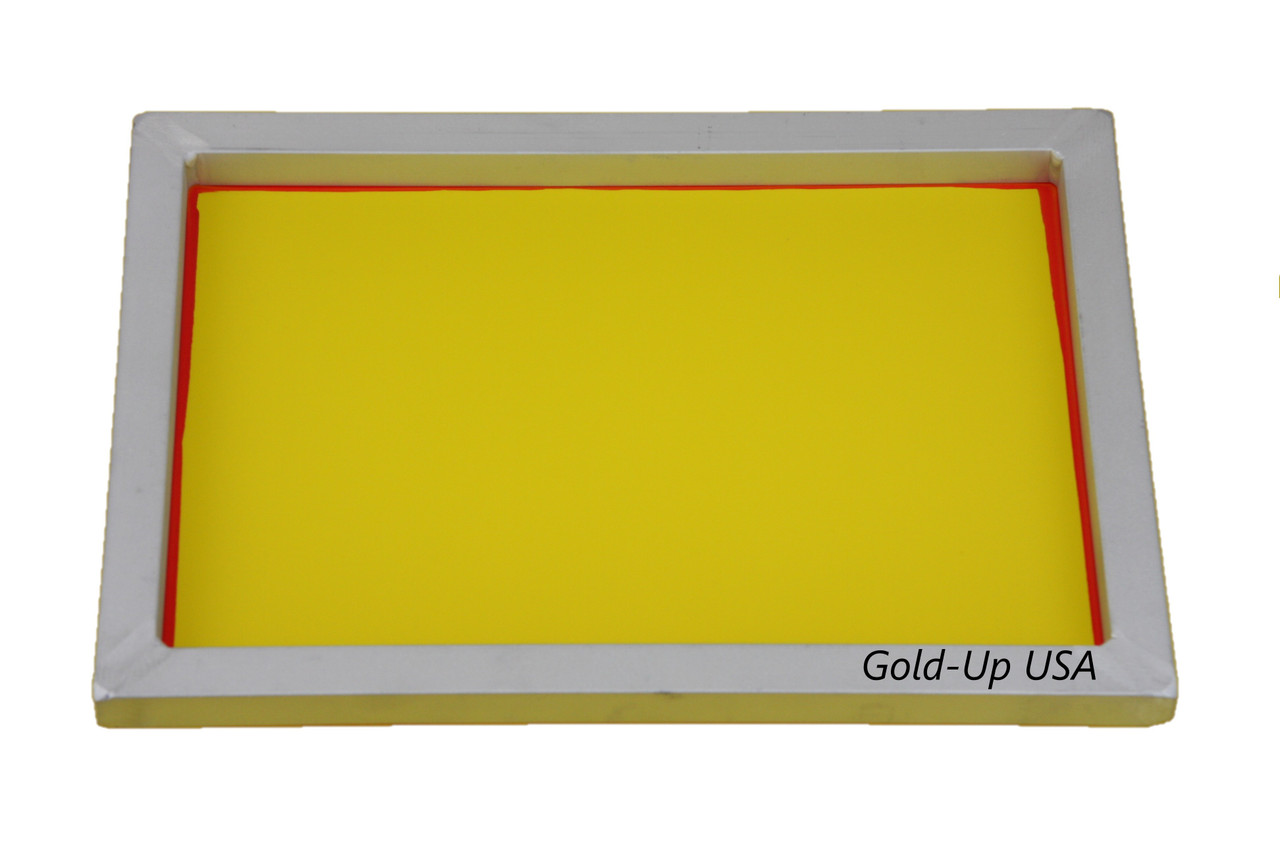 Size 9 x 14 Pre-Stretched Silk Screen Frame 230 Yellow Mesh Aluminum Screen Printing Screens