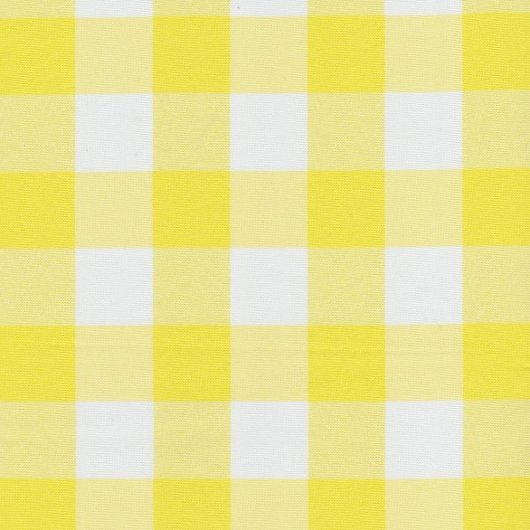 Charmant Yellow Checkered Cloth Tablecloth