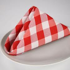 Red Checkered Cloth Napkin