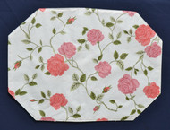 Manchester Rose and Buds Vinyl Placemats