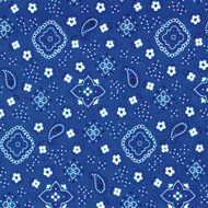 Blue Round Bandana Print Tablecloth