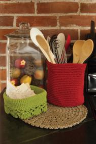 Tan Mode Crochet Round Woven Placemats