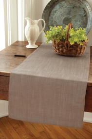 Gray Natural Woven Table Runner