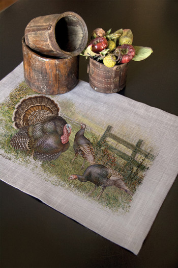 Wild Turkey Placemats for Thanksgiving