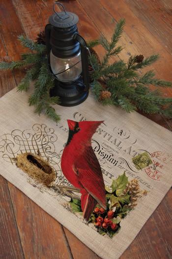 Winter Garden Cardinal Bird Placemats