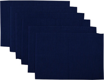 Nautical Blue Ribbed Placemats