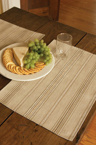 Straw Colored Striped Placemats