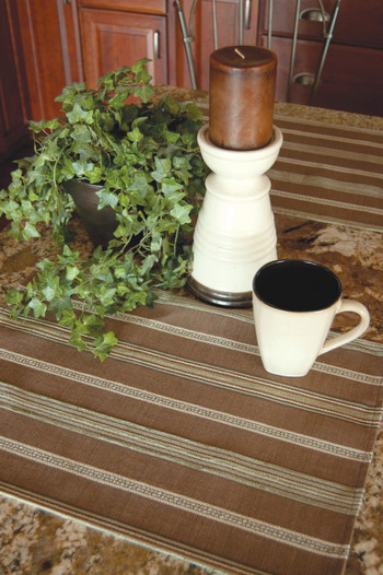 Brown and Tan Striped Placemats