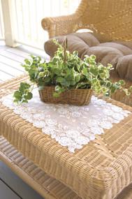 Tea Rose White Lace Placemats