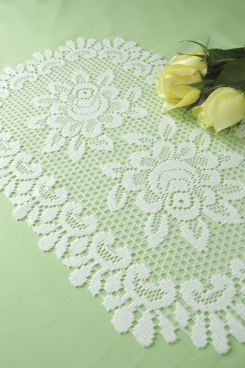 White Roses Floral Placemats