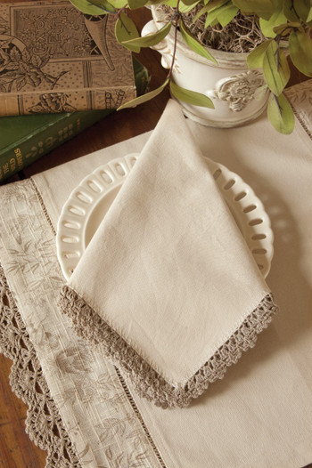 Bella Natural Color Vintage Cloth Napkins