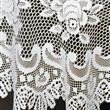 Off White Rose Oval Lace Tablecloth