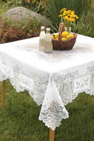 Heirloom Vintage Square Tablecloth 58 x 58