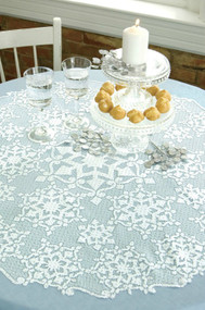 Glisten with snowflake designs Round Table Toppers