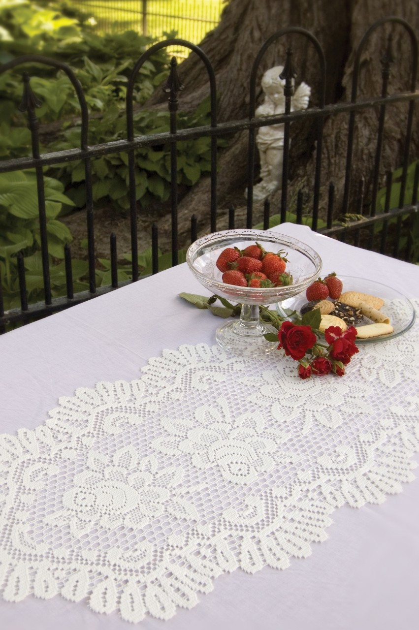 Rose Lace Table Runners Yourtablecloth