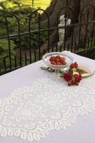 Rose Lace Table Runners in White