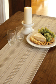 Straw Colored Sampler Striped Table Runners