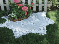 White Tea Rose Lace Table Toppers