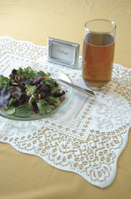 White Canterbury Lace Dining Table Placemats