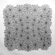 Black Spider Web Table Topper 60 x 60