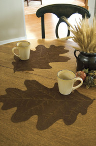 Brown Oak Leaf Shaped Placemats