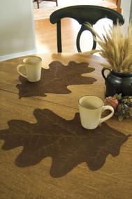 Brown Oak Leaf Shaped Placemats