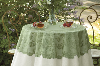 Elizabeth Round Sage Table Topper