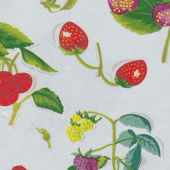 Wild Berries Flannel Backed Vinyl Tablecloth