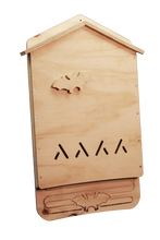 Image of assembled one chamber bat house, unpainted