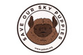 """An excellent image of the """"Save Our Sky Puppies"""" sticker close up with great details. The photographer worked for 10's of minutes to produce this high quality image for your enjoyment. Proceeds of """"Sky Puppy"""" sticker sales goes to benefit the Georgia Bat Working Group, a great group of folks dedicated to helping bats in Georgia and beyond."""