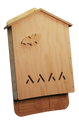 Front view of the assembled 4 Chamber Bat House Kit, unpainted.