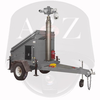 A2Z Solar 4G 360 Fixed 30x IR PTZ Security Trailer MMST-EZ3