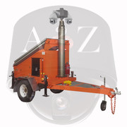 A2Z MMST-EZ3 4G Dual IR PTZ Solar Security Trailer Construction Orange