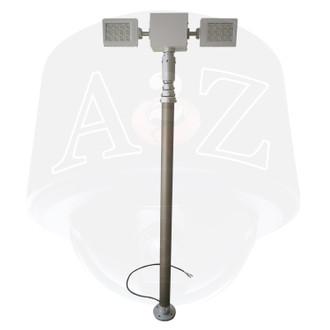 A2Z Telescopic Pneumatic Mast LED Lighting Pan Tilt Internal CAble