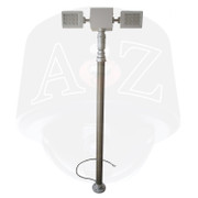 A2Z Telescopic Pneumatic Mast LED Lighting Pan Tilt Internal CAble