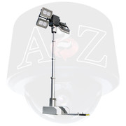 Roof Mount Tilting Pneumatic Mast Lighting Tower Systems Dual Tilt