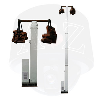 A2Z MESM Max Duty Electro-Mechanical Screw Masts Extended Retracted