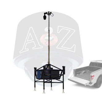 A2Z M3SP Modular Mobile Telescopic Mast Surveillance Platform for easy truck bed transport