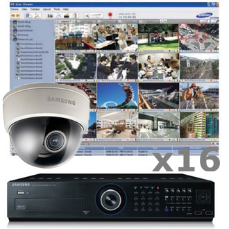 16ch Samsung CCTV Dome Security Camera System