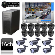 Geovision PC DVR 16 channel 800TVL CCTV IR Camera System GV2