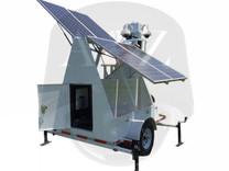 A2Z MMST-AZ1QP Quad PTZ 4G Solar Surveillance Trailer