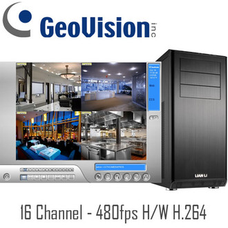 Geovision 16ch PC DVR System H/W H.264 480fps Real-time
