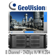 8 Channel Hardware Compression H.264 Real-time 240fps Geovision Rackmount PC DVR System