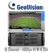 16 channel H/W Compression H.264 480fps Geovision Rackmount PC DVR