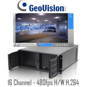 16 channel 480fps H/W H.264 Geovision  PC DVR Rackmount System